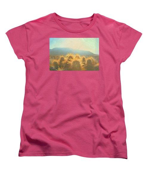 Women's T-Shirt (Standard Cut) featuring the photograph Hill Top Sunset  by Mark Ross
