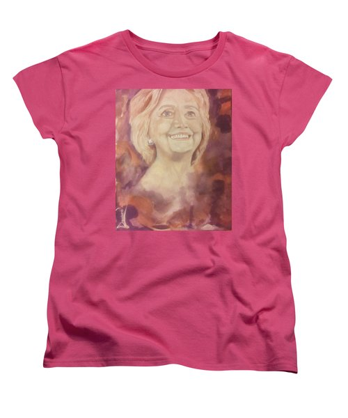 Hillary Clinton Women's T-Shirt (Standard Cut) by Raymond Doward