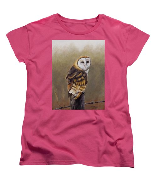Women's T-Shirt (Standard Cut) featuring the painting His Majesty Sits by Dan Wagner