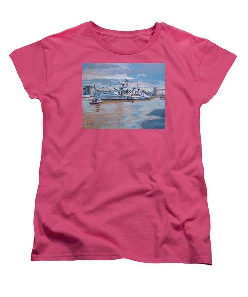 Hms Belfast Shows Off In The Sun Women's T-Shirt (Standard Fit)