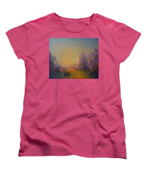 Hogwarts Castle Women's T-Shirt (Standard Cut) by Joe Gilronan