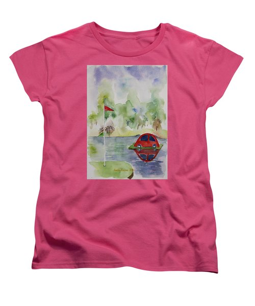 Women's T-Shirt (Standard Cut) featuring the painting Hole In One Prize by Geeta Biswas