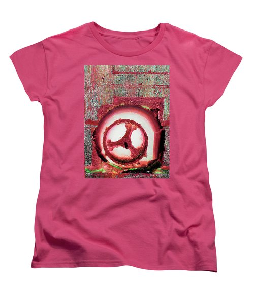 Women's T-Shirt (Standard Cut) featuring the mixed media Hole Opposite by Tony Rubino