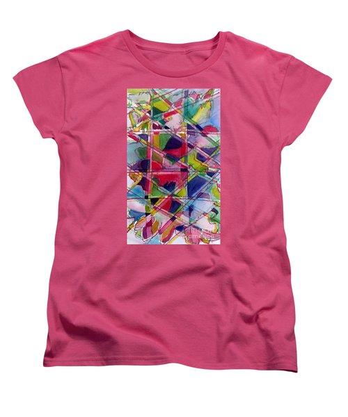 Holiday Rush Women's T-Shirt (Standard Cut) by Jan Bennicoff