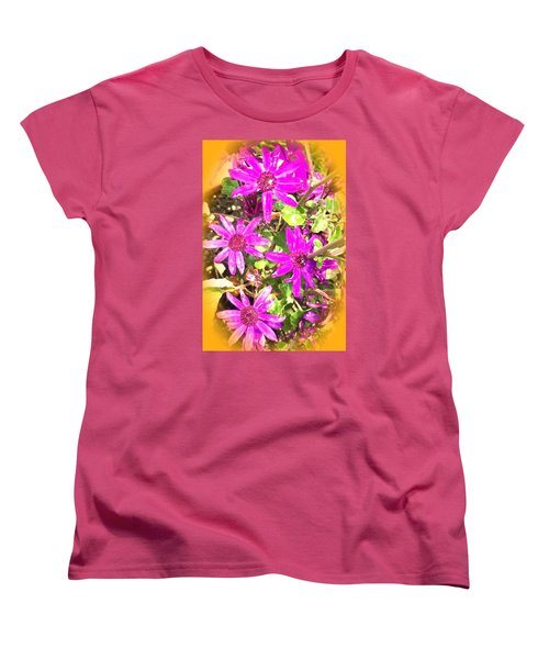 Hollywood Flower Stars Women's T-Shirt (Standard Cut)