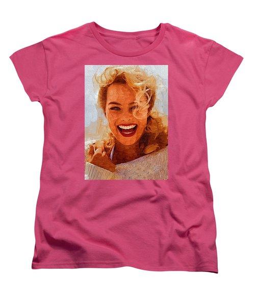 Hollywood Star Margot Robbie Women's T-Shirt (Standard Cut) by Best Actors