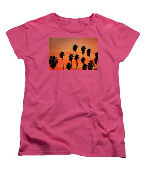 Hollywood Sunset Women's T-Shirt (Standard Cut) by Mariola Bitner