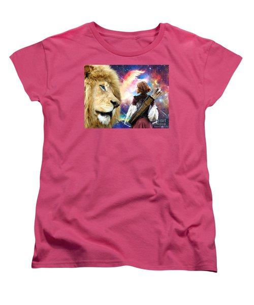 Women's T-Shirt (Standard Cut) featuring the digital art Holy Calling by Dolores Develde