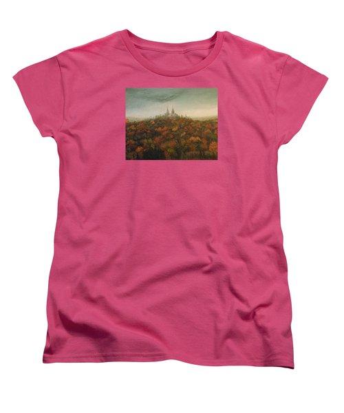 Holy Hill Rain Storm Women's T-Shirt (Standard Cut) by Dan Wagner