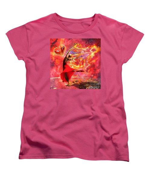 Holy Spirit Fire Women's T-Shirt (Standard Cut) by Dolores Develde