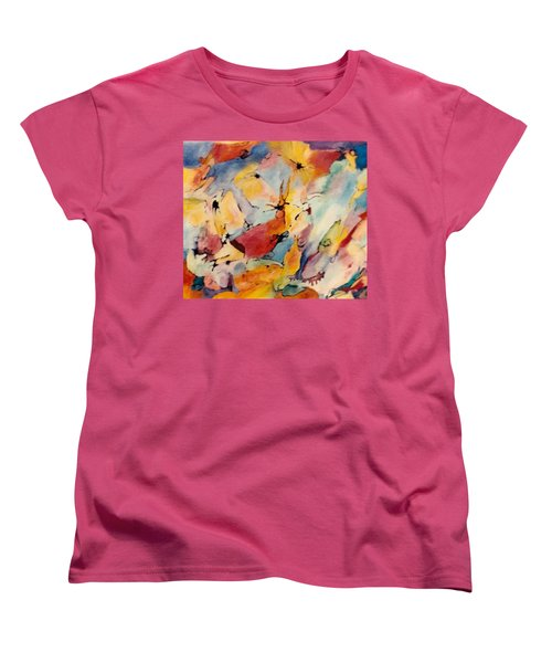 Homage A Kandinsky Women's T-Shirt (Standard Cut) by Bernard Goodman