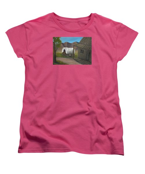 Women's T-Shirt (Standard Cut) featuring the painting Homestead by Sheri Keith