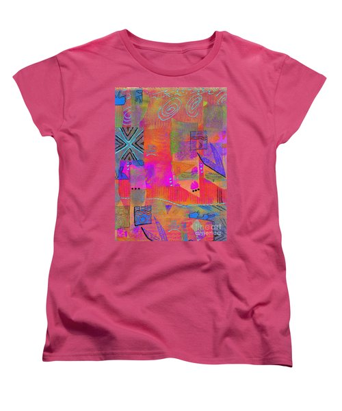 Women's T-Shirt (Standard Cut) featuring the mixed media Hope And Dreams by Angela L Walker