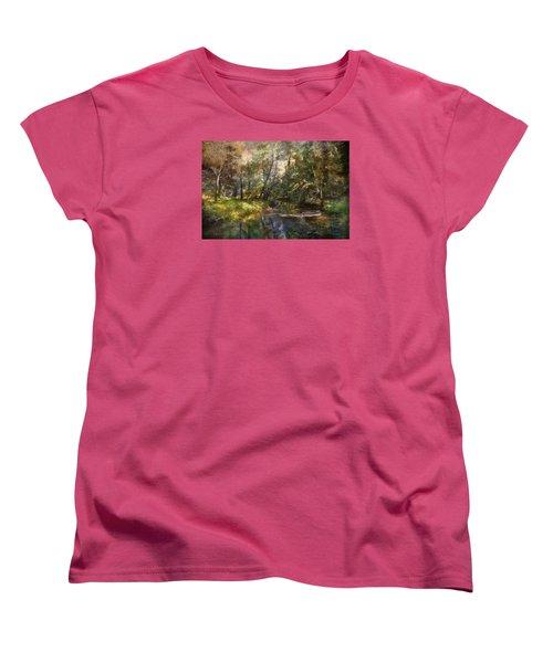 Women's T-Shirt (Standard Cut) featuring the photograph Hopkins Pond, Haddonfield, N.j. by John Rivera