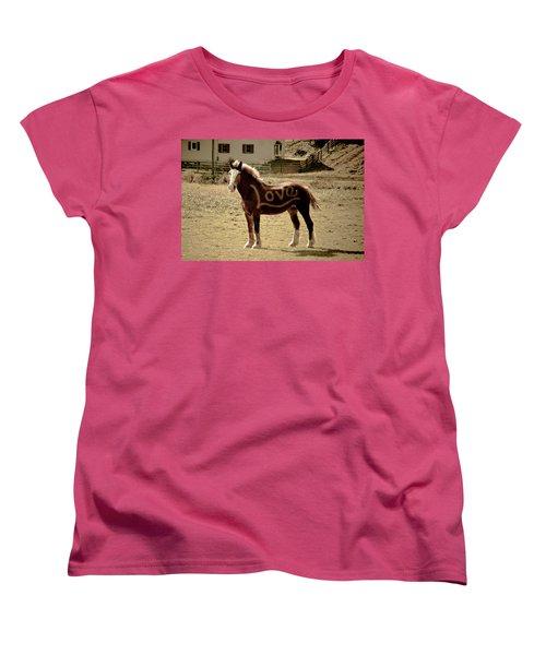 Horse Love Women's T-Shirt (Standard Cut) by Trish Tritz