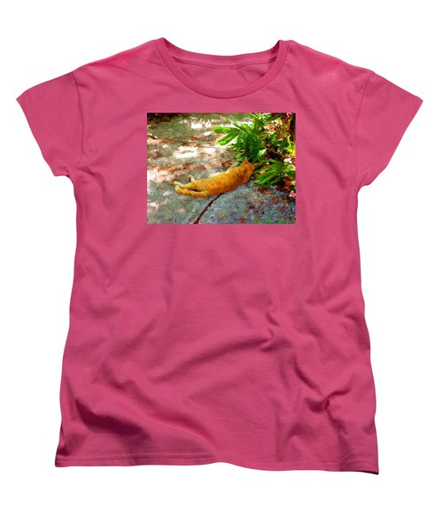 Women's T-Shirt (Standard Cut) featuring the painting Hot Cat by David  Van Hulst