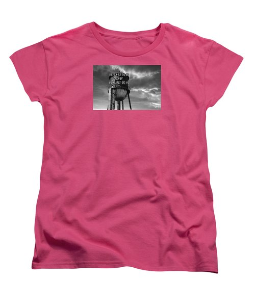 Women's T-Shirt (Standard Cut) featuring the photograph House Of Blues B/w by Laura Fasulo