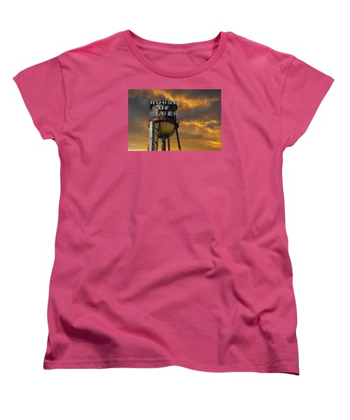 Women's T-Shirt (Standard Cut) featuring the photograph House Of Blues  by Laura Fasulo