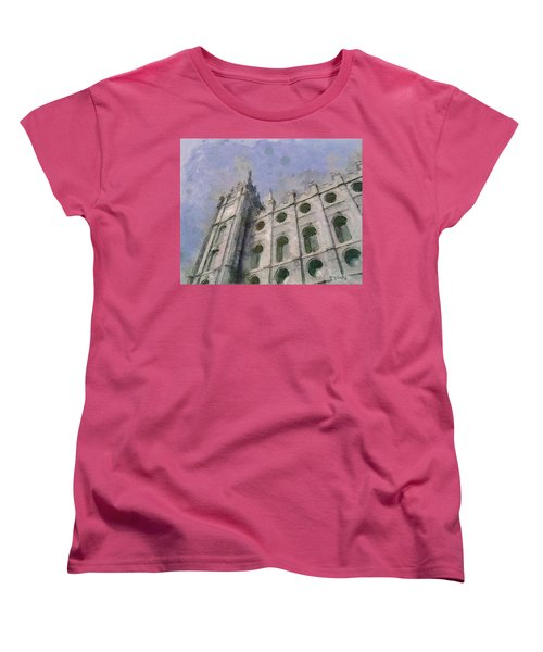 Women's T-Shirt (Standard Cut) featuring the painting House Of Faith by Greg Collins