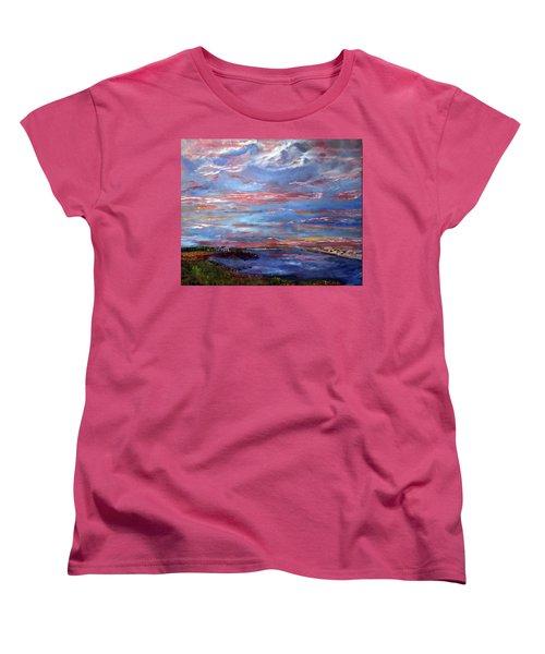 House On The Point Sunset Women's T-Shirt (Standard Cut) by Michael Helfen