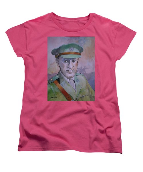 Women's T-Shirt (Standard Cut) featuring the painting Hugo Throssel Vc by Ray Agius