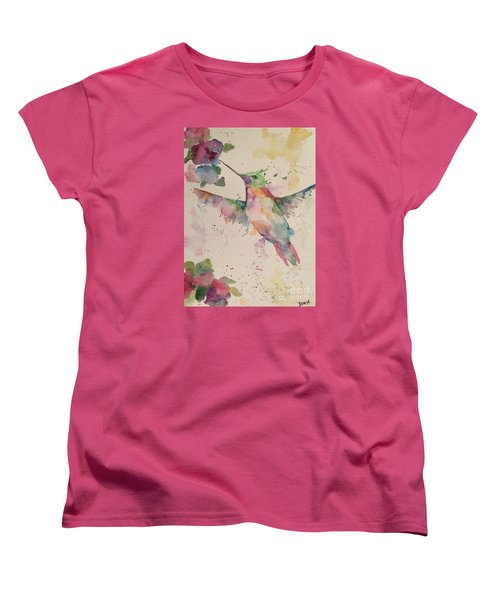 Hummingbird Women's T-Shirt (Standard Cut) by Denise Tomasura