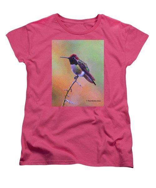 Hummingbird On A Stick Women's T-Shirt (Standard Cut) by Tom Janca
