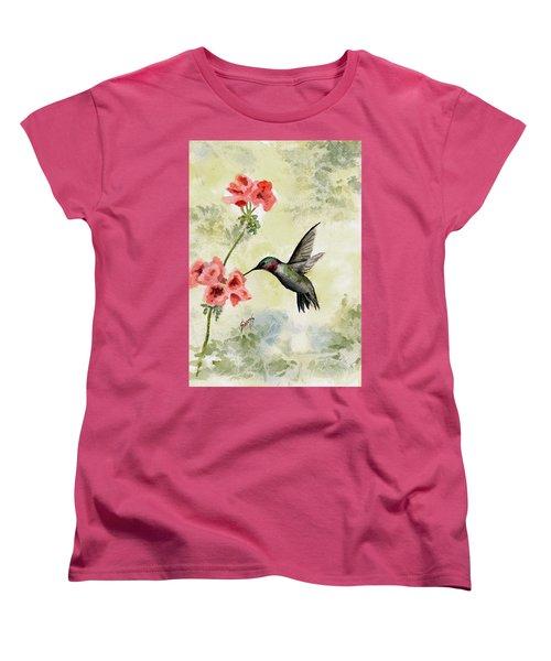 Hummingbird Women's T-Shirt (Standard Cut) by Sam Sidders