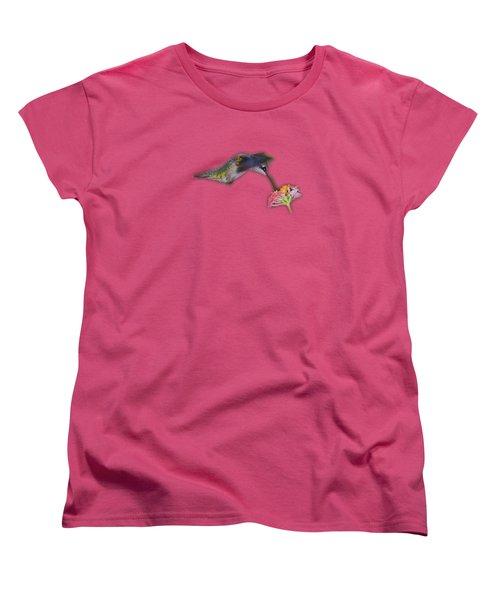 Hummingbird Tee-shirt Women's T-Shirt (Standard Cut) by Donna Brown