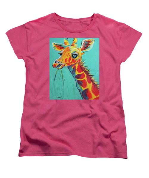 Hungry Giraffe Women's T-Shirt (Standard Cut)