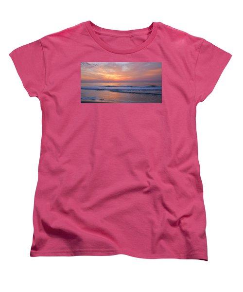 Huntington Beach Sunrise, Nc Women's T-Shirt (Standard Cut) by Alan Lenk