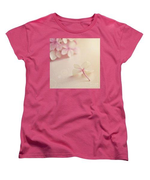 Women's T-Shirt (Standard Cut) featuring the photograph Hydrangea Flower by Lyn Randle