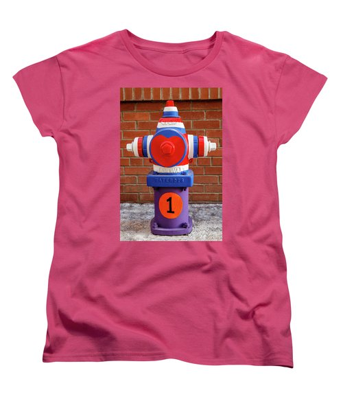 Hydrant Number One Women's T-Shirt (Standard Cut) by James Eddy