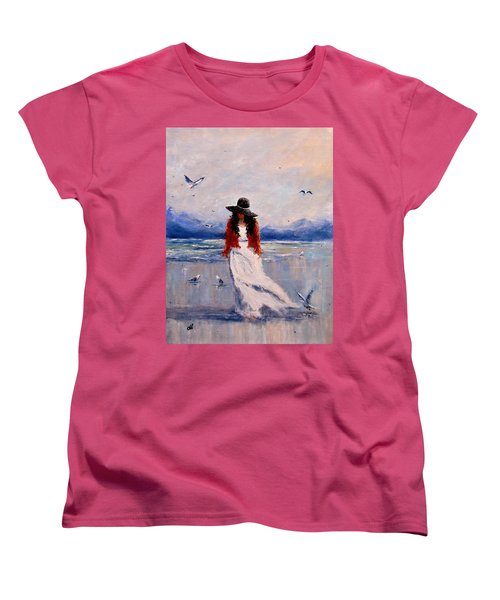 Women's T-Shirt (Standard Cut) featuring the painting I Am Just A Dreamer.. by Cristina Mihailescu