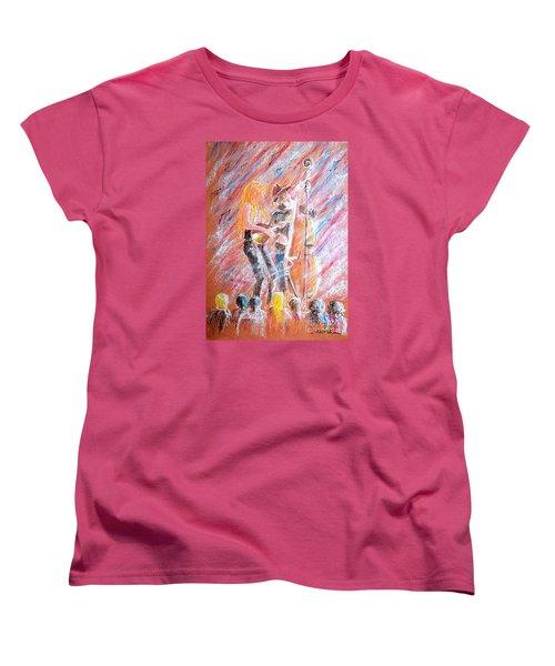Women's T-Shirt (Standard Cut) featuring the painting I Love Bluegrass by Bill Holkham