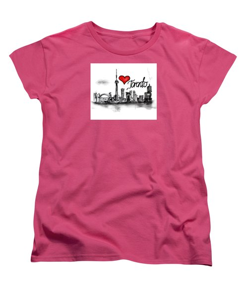 I Love Toronto Women's T-Shirt (Standard Cut)