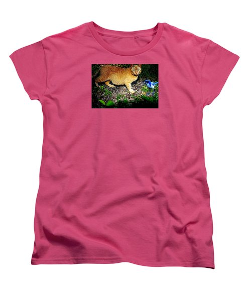 Women's T-Shirt (Standard Cut) featuring the photograph I See A Puddy Kat by Nick Kloepping