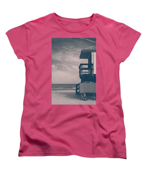 Women's T-Shirt (Standard Cut) featuring the photograph I Was Checkin' On The Surfin' Scene by Yvette Van Teeffelen