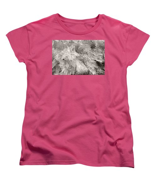 Ice Crystals Women's T-Shirt (Standard Cut) by Heather Kirk
