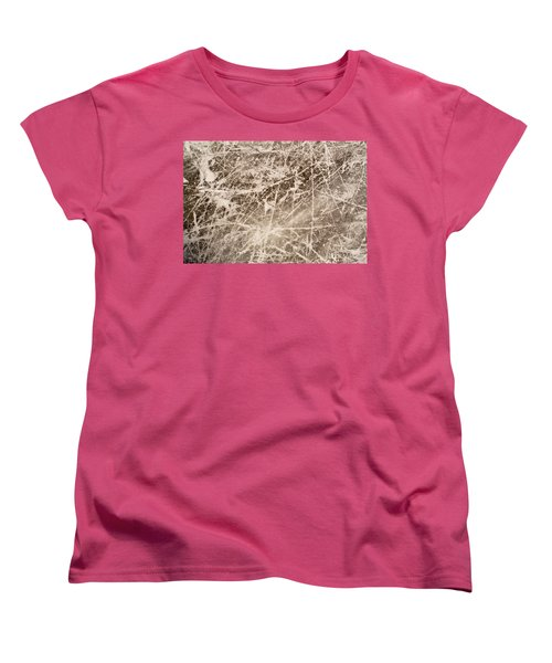 Women's T-Shirt (Standard Cut) featuring the photograph Ice Skating Marks by John Williams