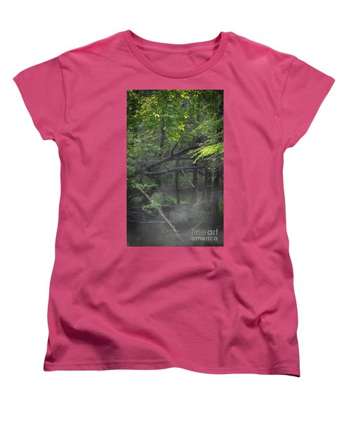 Women's T-Shirt (Standard Cut) featuring the photograph If A Tree Falls In The Woods by Skip Willits