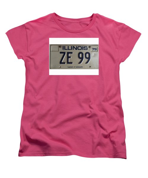 Illinois License Women's T-Shirt (Standard Cut)