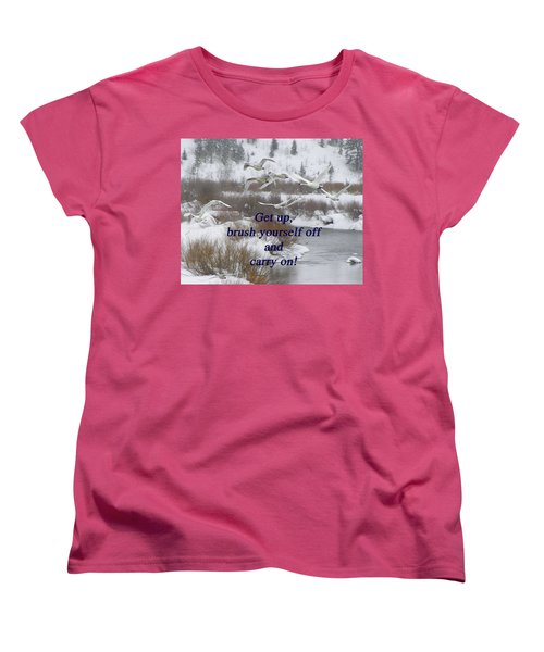 In Flight Carry On Women's T-Shirt (Standard Cut) by DeeLon Merritt