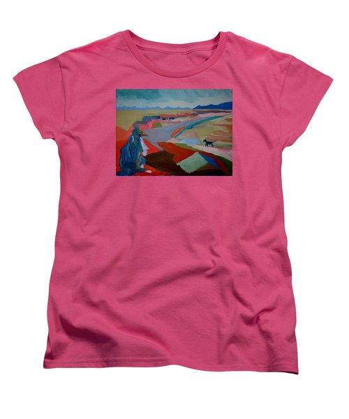 Women's T-Shirt (Standard Cut) featuring the painting In My Land by Francine Frank