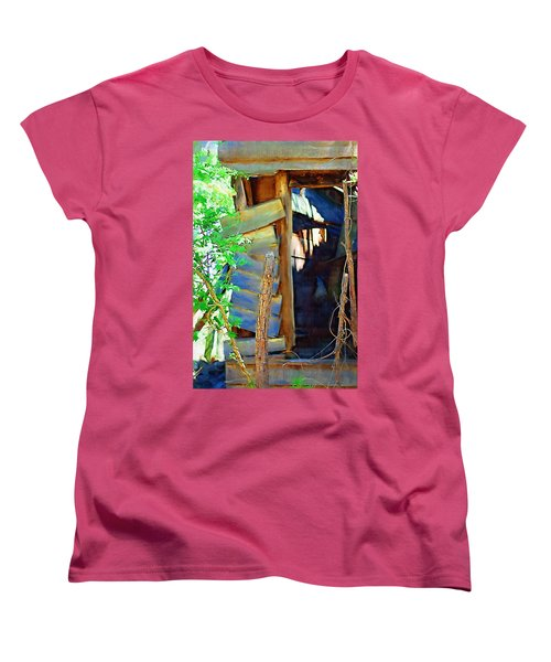 Women's T-Shirt (Standard Cut) featuring the photograph In Shambles by Donna Bentley