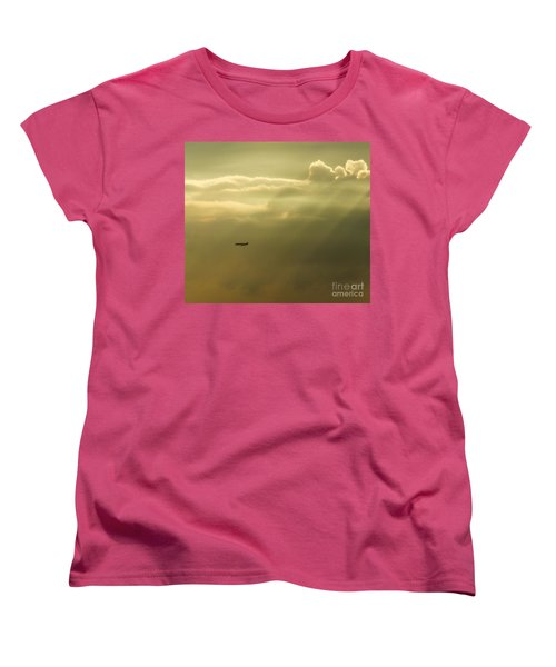 In The Clouds  Women's T-Shirt (Standard Cut) by Christy Ricafrente