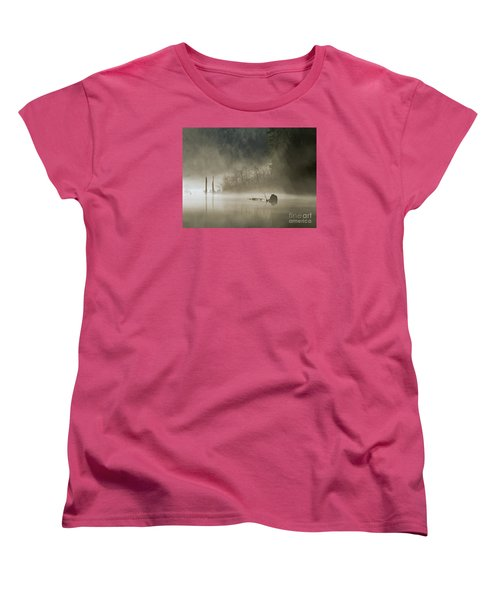 Women's T-Shirt (Standard Cut) featuring the photograph In The Fog by Inge Riis McDonald