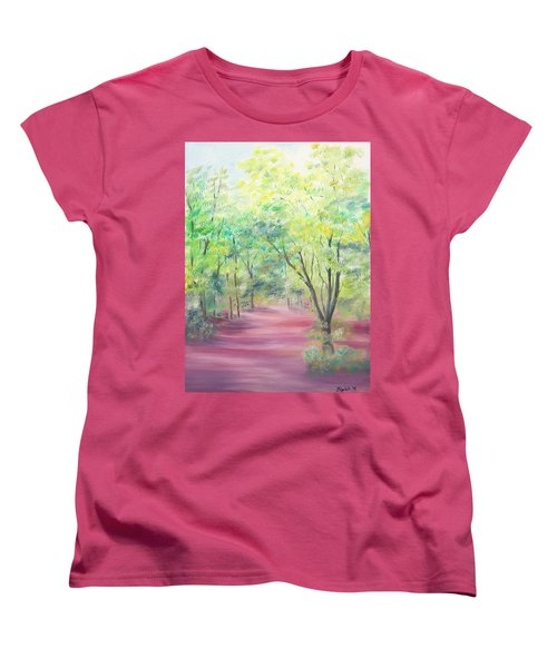 Women's T-Shirt (Standard Cut) featuring the painting In The Park by Elizabeth Lock