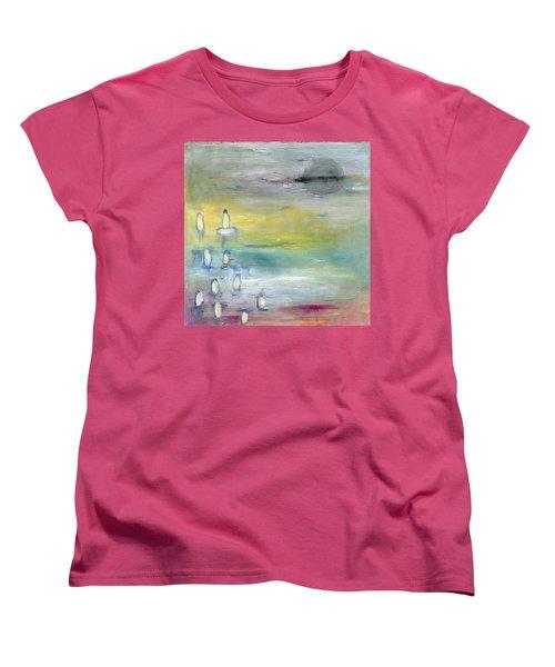 Indian Summer Over The Pond Women's T-Shirt (Standard Cut) by Michal Mitak Mahgerefteh