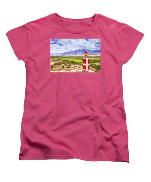 Women's T-Shirt (Standard Cut) featuring the photograph Indus Valley by Alexey Stiop